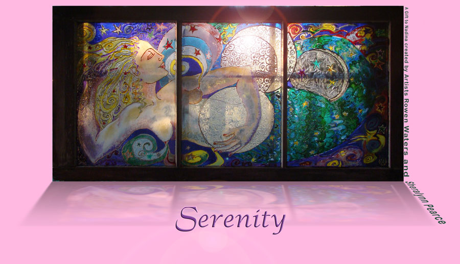 Serenity - A Gift to Nadina created by Artists Rowan Waters and Sheralynn Pearce